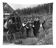Stagecoach Robbery, 1911 Tapestry
