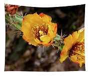 Staghorn Cactus Blossons Tapestry
