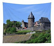 Stahleck Castle In The Rhine Gorge Germany Tapestry