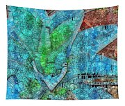 Stained Glass Agave Two  Tapestry