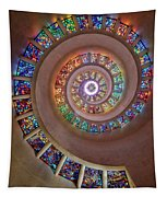 Stained Glass Spiral Tapestry