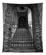Stairs Beyond B-w Tapestry
