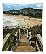 Stairway To Beach Tapestry