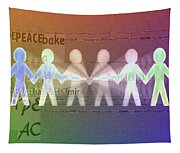 Stand Together In Peace Tapestry