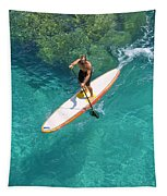 Stand Up Paddling II Tapestry