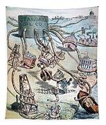 Standard Oil Cartoon Tapestry