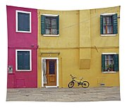 Standing By For A Quick Get Away In Burano Italy Tapestry