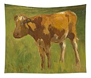 Standing Calf Tapestry