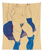Standing Woman With Shoes And Stockings Tapestry