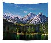 Stanley Lake Reflections Tapestry