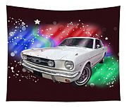 Star Of The Show - 66 Mustang Tapestry