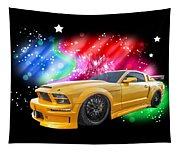 Star Of The Show - Mustang Gtr Tapestry