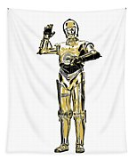 Star Wars C-3po Droid Tee Tapestry
