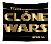 Star Wars The Clone Wars Typography Tapestry