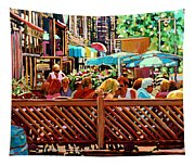 Starbucks Cafe On Monkland Montreal Cityscene Tapestry