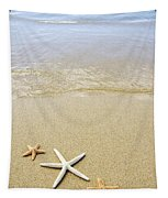 Starfish On Beach Tapestry