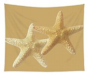 Starfish On White Tapestry