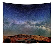 Starry Night Over Mesa Arch Tapestry