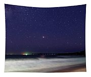 Starry Night Seascape Tapestry