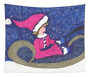 Starry Sleigh Ride Tapestry