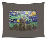 Starry Towers Tapestry
