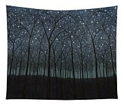 Starry Trees Tapestry