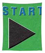 Start Button Tapestry
