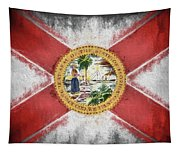 State Of Florida Flag Tapestry