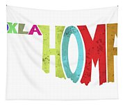 State Of Oklahoma Typography Tapestry