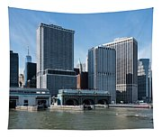 Staten Island Ferry Docks Tapestry