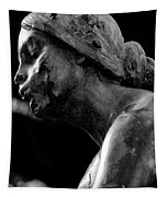 Statue In Black And White Tapestry