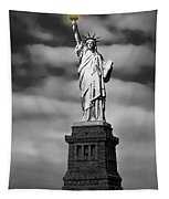 Statue Of Liberty At Dusk Tapestry