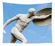 Statue Of Nude Man With Shield And Dagger Tapestry