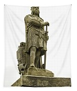 Statue Of Robert The Bruce Stirling Castle Tapestry