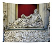 Statue Of The Greek River God Tiberinus At The Vatican Museum Tapestry