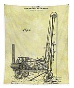 Steam Powered Oil Well Patent Tapestry
