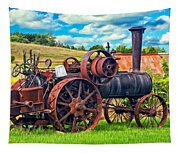 Steam Powered Tractor - Paint Tapestry
