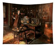 Steampunk - The Time Traveler 1920 Tapestry