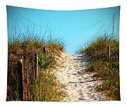 Steep Beach Path Tapestry