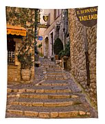 Steep Street In St Paul De Vence Tapestry