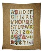 Stencil Alphabet Fun Tapestry