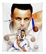 Steph Curry 2017 Profile Tapestry
