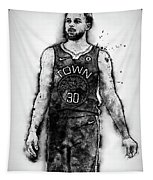Steph Curry, Golden State Warriors - 18 Tapestry