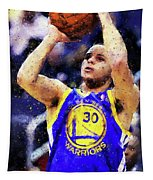 Steph Curry, Golden State Warriors - 19 Tapestry