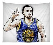 Steph Curry, Golden State Warriors - 20 Tapestry