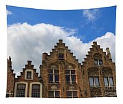 Stepped Gables Of The Brick Houses In Jan Van Eyck Square Tapestry