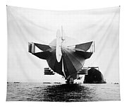 Stern Of Zeppelin Airship - 1908 Tapestry