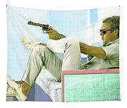 Steve Mcqueen, Colt Revolver, Palm Springs, Ca Tapestry