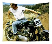 Steve Mcqueen, Triumph Motorcycle, On Any Sunday Tapestry