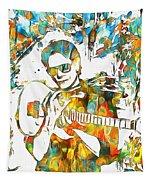 Steve Vai Paint Splatter Tapestry